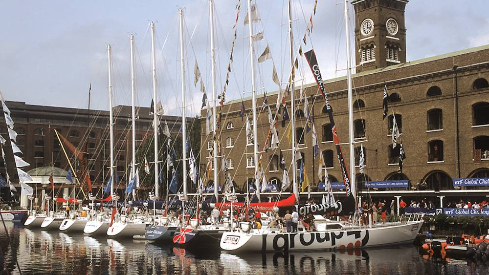 BT Global Challenge - the fleet gathers in St Katherines Dock