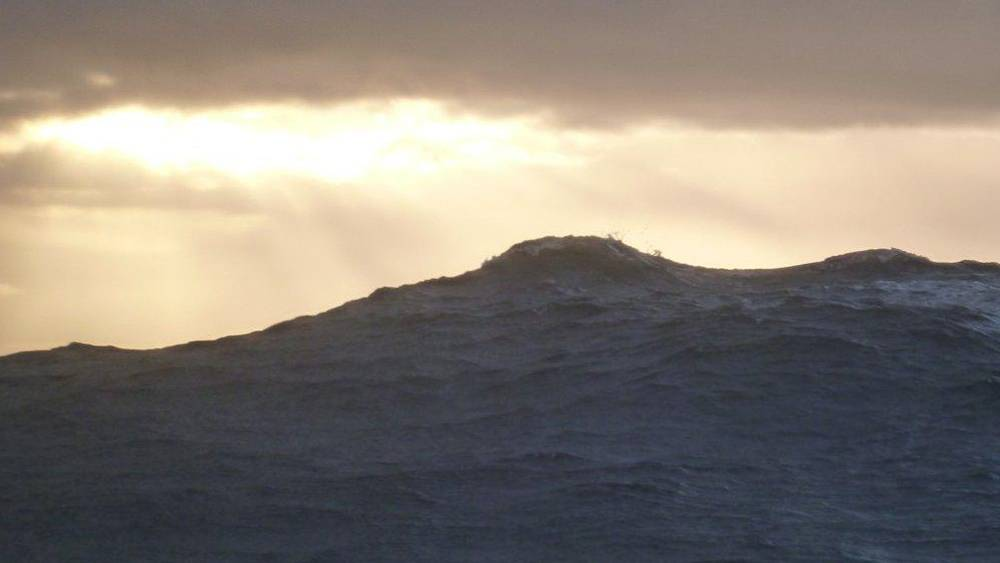 Vendee Globe - mountainous seas in the Southern Ocean