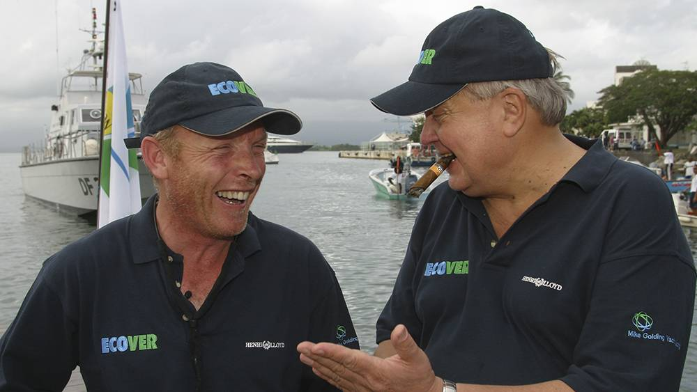 Route du Rhum - with my greatest supporter and friend Jørgen Philip-Sørensen CBE