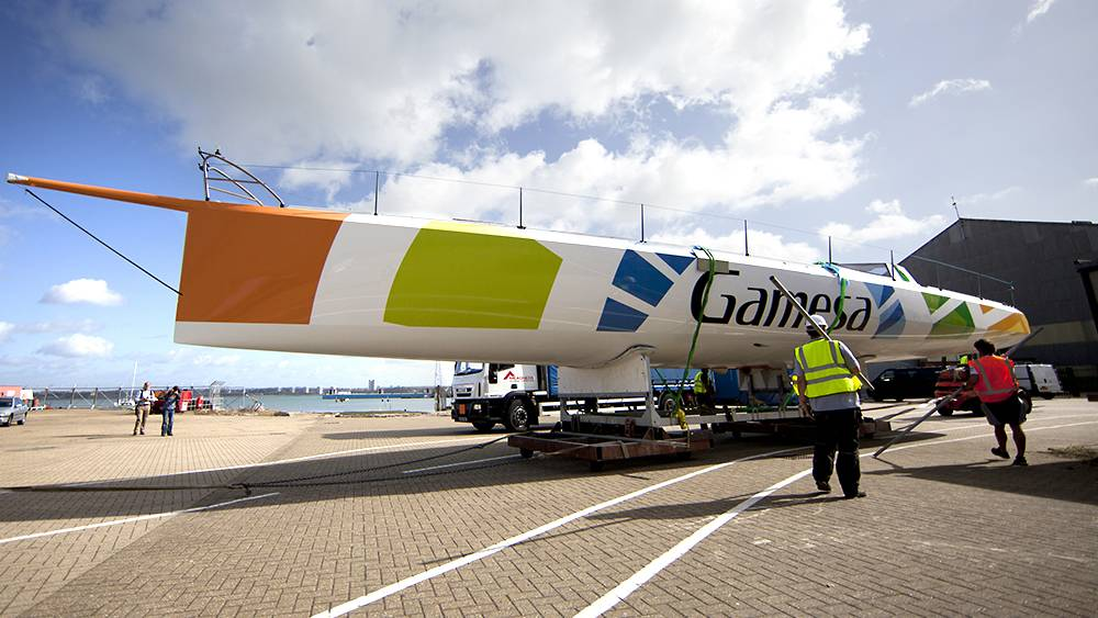 Green Marine - E3 becomes Gamesa following a major refit with a new roof, mast and lighter keel