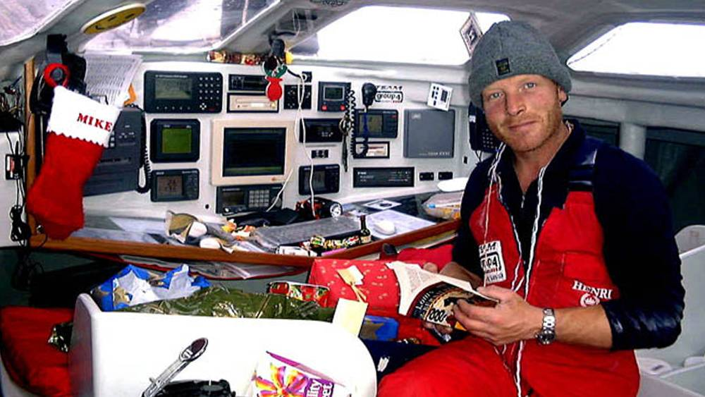 Vendee Globe - Team Group 4 nav station on Christmas Day in the Southern Ocean