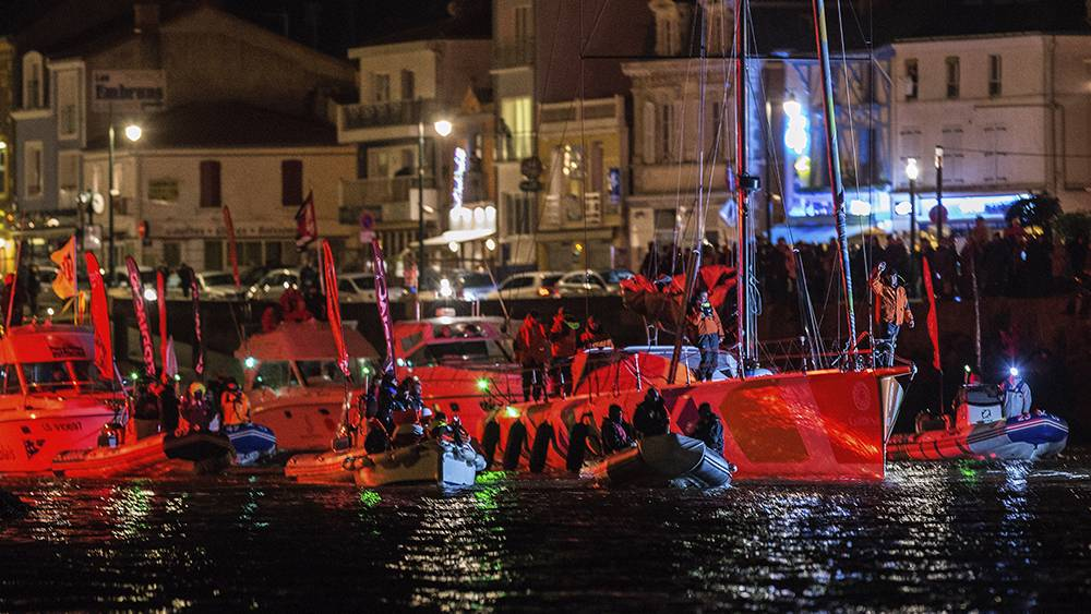 Vendee Globe - arrival back in Les Sable d'Olonne