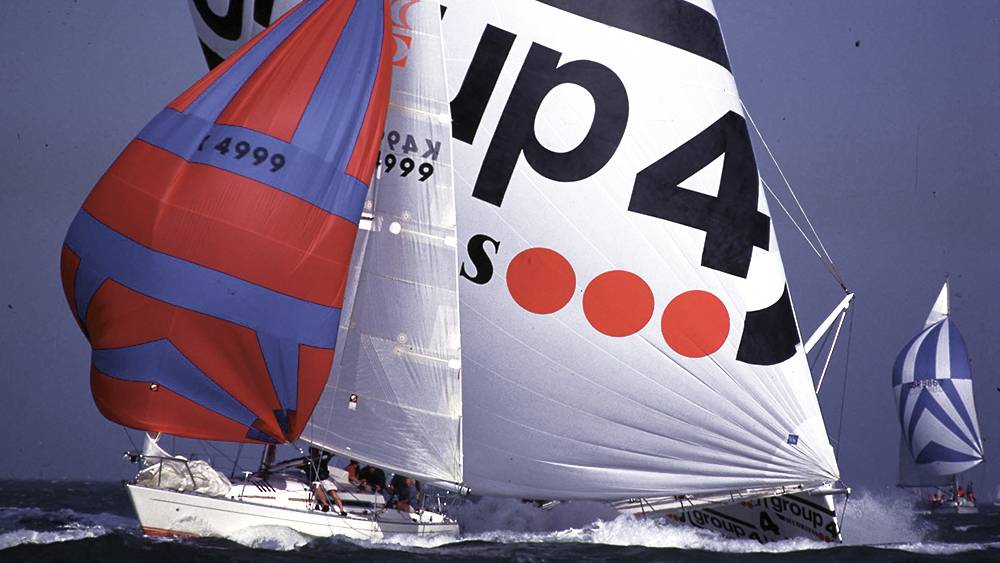 Round the Island Race - TG'4 powers through the fleet at 24kts